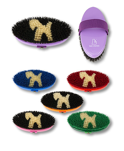 grooming brush small size with pure horsehair