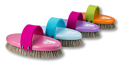 »Feltie« high quality mixed bristles, beechwood 4 colours, felt-belt