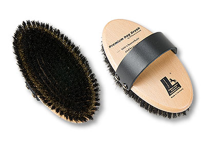 Premium dog brush medium horsehair brass wire
