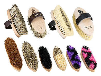 coarse grooming and mud brushes