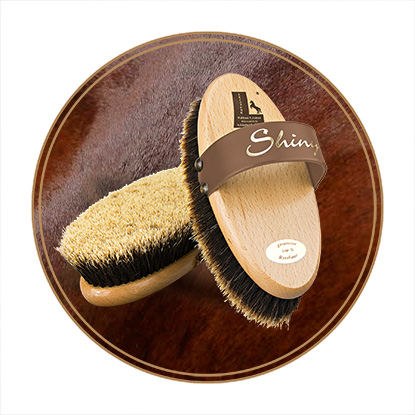 Horse grooming brushes